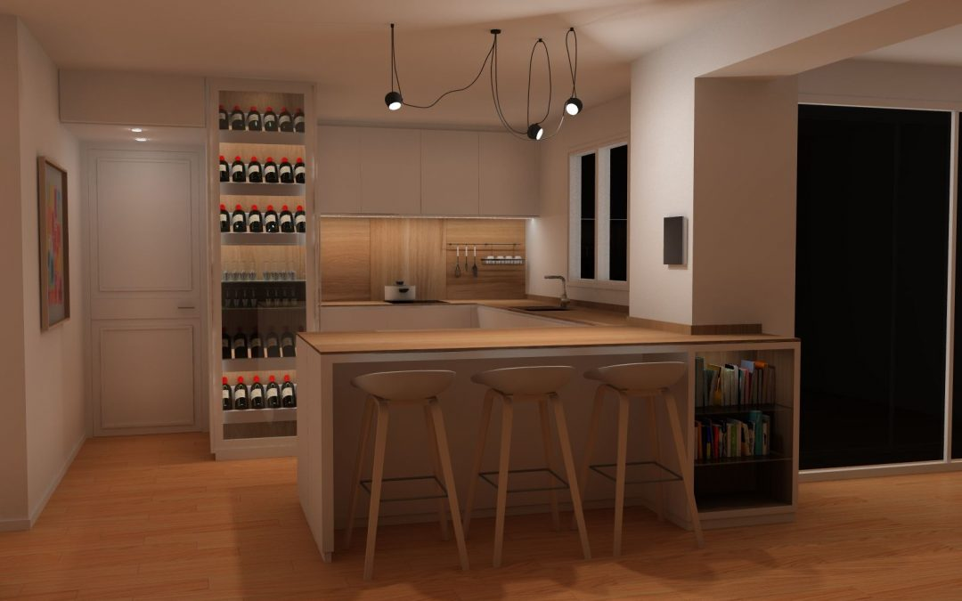 Une cuisine moderne et épurée